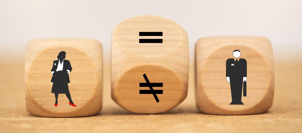 Symbole für Ungleichheit zwischen Männern und Frauen
