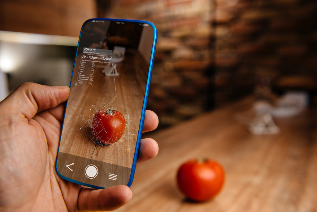Smartphone analysiert Tomate
