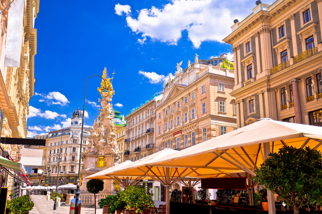 Historischer Platz in Wien