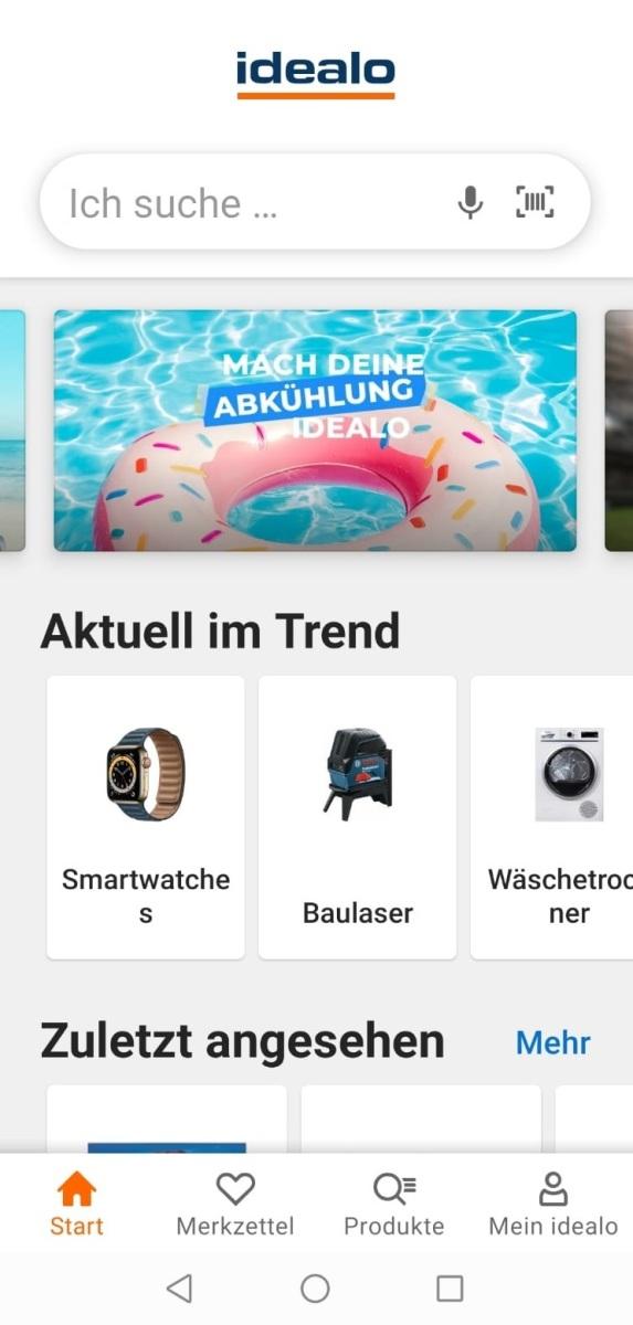 Screenshot der App Idealo.de