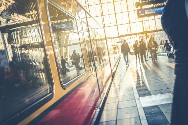 Gleis am Berliner Hauptbahnhof