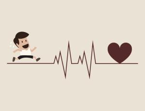 Grafik Sportler und Herzfrequenz