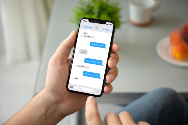 Bildschirm von Messenger-App bei Chat