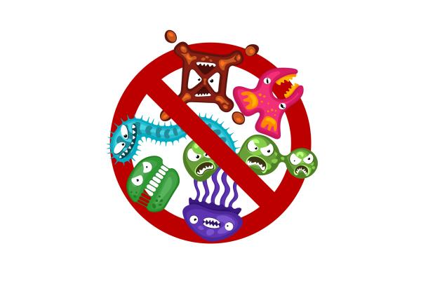Achtung Viren und Bakterien!