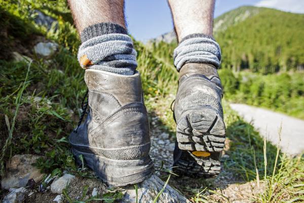 Wanderschuhe auf Bergtour