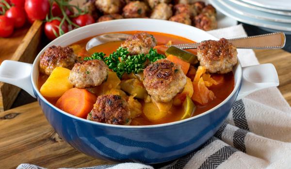 Suppe mit grünen Bohnen und Hackfleisch von beatfan