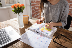 Kalender auf einem Tisch