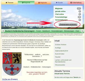 Regiogruppe verlassen