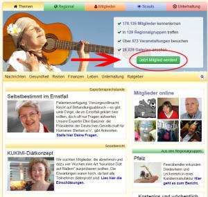 Registrieren Screenshot