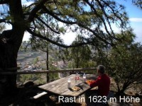 Rastplatz in den Bergen von Teneriffa