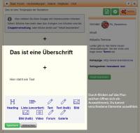 Screenshot Inhalte einstellen